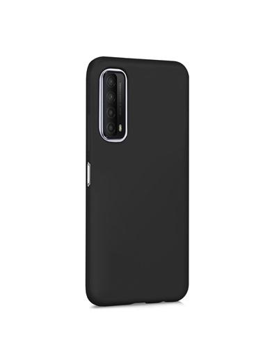 Microsonic Matte Silicone Huawei P Smart 2021 Kılıf Siyah